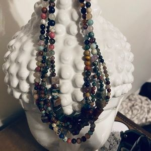 All natural stone necklace